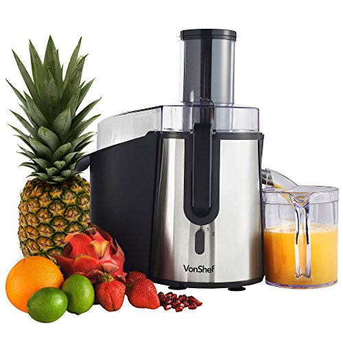 VonShef Professional Powerful Wide Mouth Whole Fruit Juicer 700W Max Power Motor review