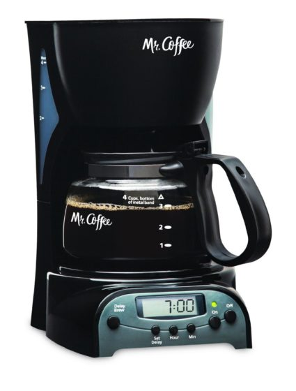 Mr. Coffee DRX5 4­Cup Programmable Coffeemaker